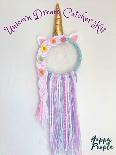 Unicorn Dream Catcher Kit, Braid, Kids Craft, Girls gift from HappyPeople