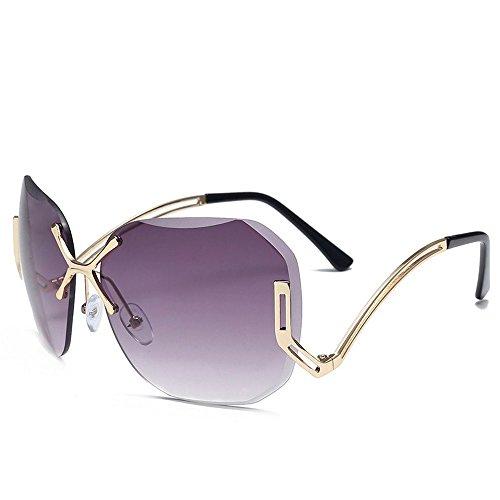 JUNHONGZHANG Sin Señoras Color C Metal De Gafas De Mar Gafas Personalidad Gafas De Sol Sol Un Sol Pedazo De De Sol Cerco Gafas De rrBdqz