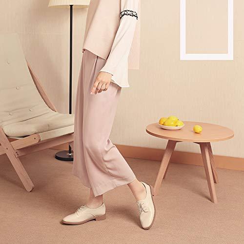 Herbst Farbe Style 38 Schuhe Einfache Farbe Optional Einzelne Weibliche Heeled College Low Frauen größe Komfortable Beige Schuhe n5aUOwx