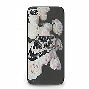 Flowers Background Stylish Logo NIKE Phone Case Cover for Iphone 5 5s