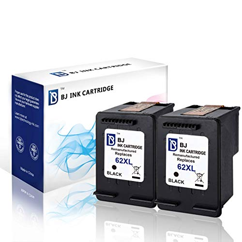 - BJ Remanufactured Ink Cartridges Replacement for HP 62XL 62 XL C2P05AN High Yield for HP Envy 5540 5542 5545 5640 5660 5665 7640 7645 8000 8005 HP OfficeJet 5740 5742 5743 5745 8040 (2 Black)