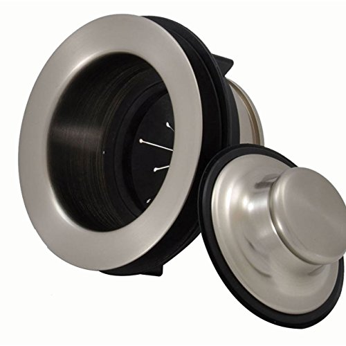 Brs Drain - Mountain Plumbing MT206/BRS Perfect Grind Metal Disposer Trim with Matching Stopper, Brushed Stainless