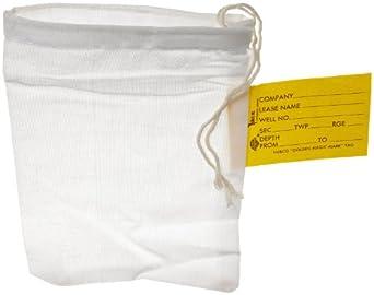 "Hubco 485-5X7 Geological Sample Bag, 5"" Width x 7"" Height (Carton of 100)"