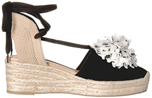 Black new spade kate Espadrille Women's york Sandal Wedge Lafayette 58wdwaq