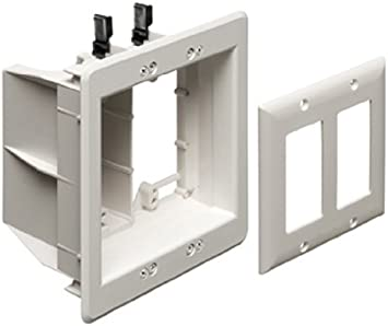Kit Arlington TVBU505-1 TV Box empotrada Outlet Wall Plate, 2-Gang, blanco, 1-Pack Color: Blanco Estilo: 2-Gang, Modelo: TVBU505: Amazon.es: Electrónica
