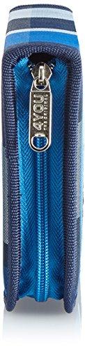 4YOU Zusatztasche Etui Xl, Ungefüllt Squares Blau (Blue) 16590095200