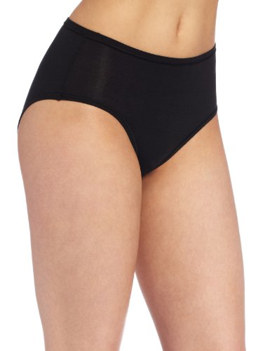 Wacoal Women's B-fitting Hi-Cut Panty Brief Panty, Black, One (Cotton Brief Panties Black)