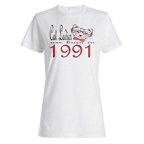 Katzen-Damen sind 1991 geboren Damen T-shirt b828f