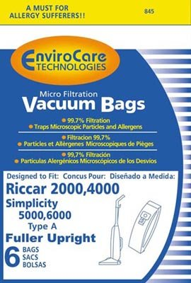 Riccar C13 Type A Vacuum Cleaner Bags for 2000/4000 Series- 12 PACK