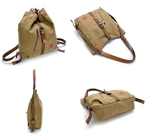 Rucksack Fashion Casual Canvas Backpack Red Shoulder Handbag Women Multifunctional Bag qx84cE7