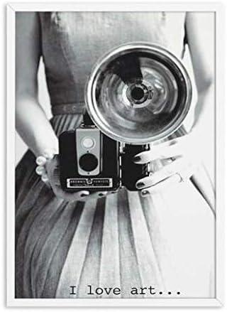 aicedu pas de cadre vintage danse photo filles nordique mur art toile noir blanc affiches et gravures toile peinture photos pour salon decor 50x70cm