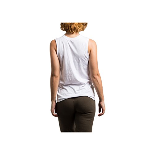 Stussy Womens Car Muscle Tank Shirt, White, Small