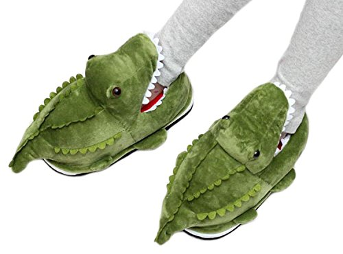 Acdiac Inverno Carino Animali Forma Peluche Pantofole Casa Moda Animali Caldi Scarpe Indoor Per Le Donne Coccodrilli