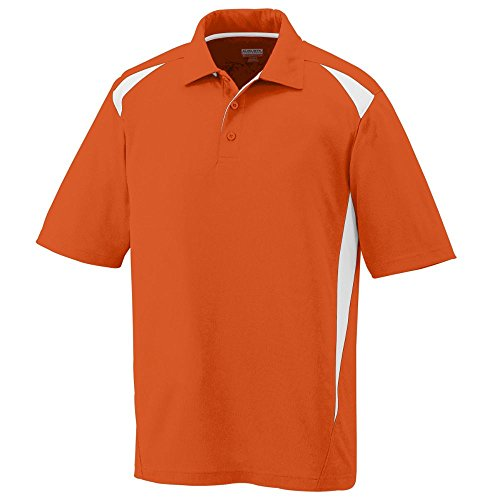 Augusta Sportswear Men's Augusta Premier Polo, Orange/White, X-Large