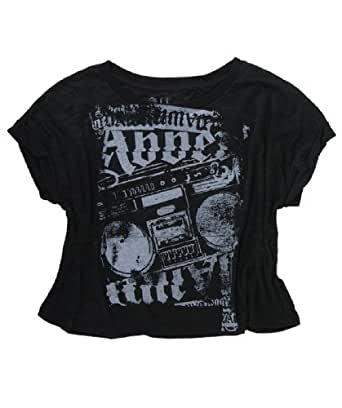 Abbey Dawn Blast From the Past Burntout Cropped Top (MEDIUM)