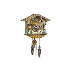 Quartz Cuckoo Clock Heidi house, handpainted TU 405 Q