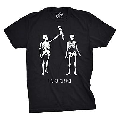 Mens Got Your Back Funny Halloween Skeleton Best Friend T Shirt