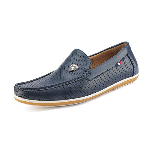 Bruno Marc Men's BUSH-02 Navy Driving Loafers Moccasins Shoes - 9.5 M US