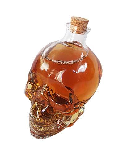 - ShiyiUP Creative Skull Head Red Wine Bottle 750ml