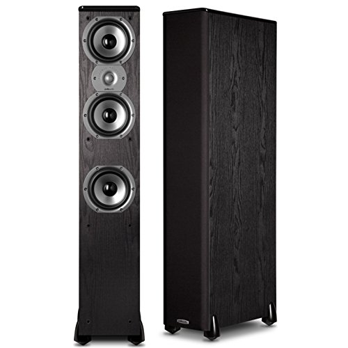 Polk Audio TSi400 4-Way Tower Speakers with Three 5-1/4