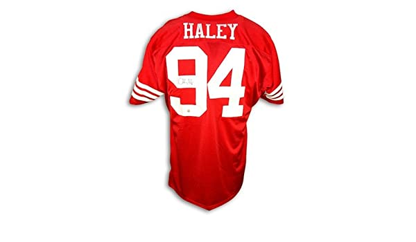 best loved f0d91 0a1fd Autographed Charles Haley San Francisco 49ers Throwback Red ...