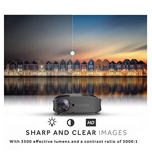 Video Projector, Outdoor Movie Projector with 200