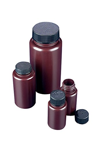 AZLON BWP0250AP Plastic, Bottle, Wide Neck, Amber, Polypropylene, 250 ml (Pack of 10) (Bottle Polypropylene Neck Wide)