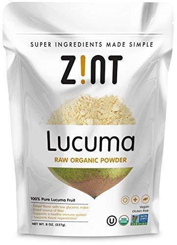 Raw Lucuma Powder by Zint: Organic, Non GMO, Lucuma Fruit Superfood - Fiber, Calcium Vitamin B1, B2, C - Sweet Creamy Flavor for Amazing Smoothies (8 oz)
