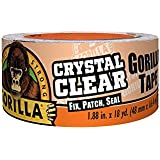Gorilla 6060002 Crystal Clear Tape 18YD