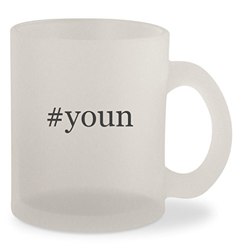 #youn - Hashtag Frosted 10oz Glass Coffee Cup Mug (Chat Samsums)