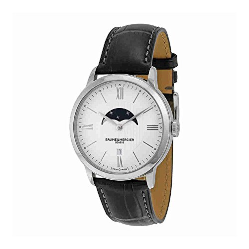 Baume-et-Mercier-Classima-White-Dial-Moonphase-Black-Leather-Mens-Watch-10219
