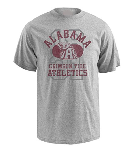 NCAA Alabama Crimson Tide Pro Weight Short Sleeve Logo T-Shirt, Medium, Athletic Oxford