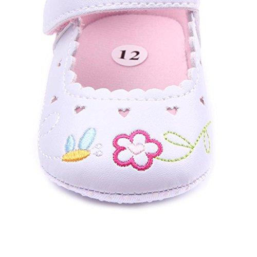 Clode® Neugeborene Baby Blumendruck Turnschuh Anti Rutsch weiche Sole Kleinkind Schuhe Weiß