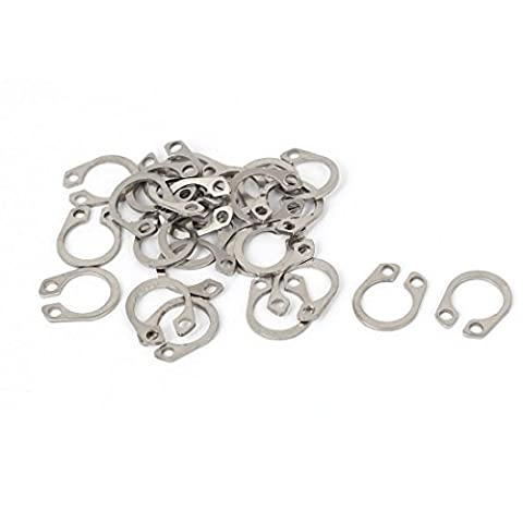 uxcell 7mm Inner Dia 304 Stainless Steel Shaft Snap Retaining Rings DIN472 26PCS (Stainless Steel Snap Ring)