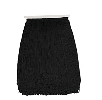 b7625194187f6 10Yard/Lot 30CM Polyester Tassel Fringe Lace Trimming for DIY Latin Dress  Stage Clothes Fabric Accessories (Black)