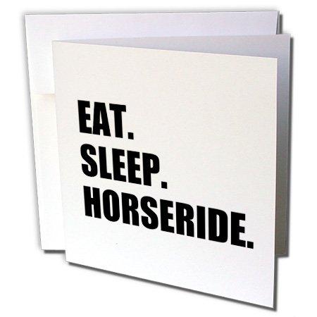 gc_180411_1 InspirationzStore Eat Sleep series - Eat Sleep Horseride - horserider gifts - horse riding rider ride hobby - Greeting Cards-6 Greeting Cards with envelopes