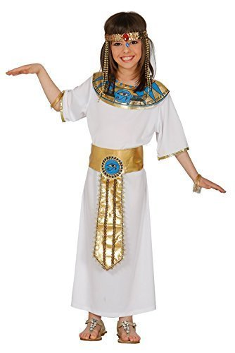 Girls Ancient Egyptian Ruler Queen Cleopatra Historical Fancy Dress Costume Outfit 5-12 yrs (10-12 Years)