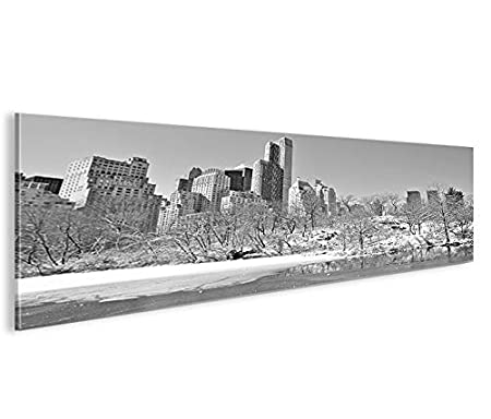 Bild Bilder Auf Leinwand New York Central Park Im Winter Panorama
