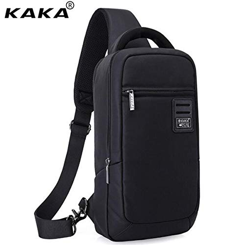 Korean Fashion Man Chest Bag Waterproof Black Cell Phone 9.7 Inch Computer for IPAD Mini Travel