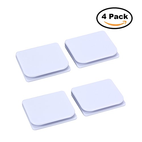 Pack of 4 Shower Curtain Splash Guards Self-adhesive Bathroom Curtain Clips