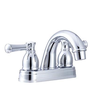 Dura Faucet DF-PL620L-CP RV Designer Two Handle Arc Spout Bathroom Faucet (Chrome): Automotive
