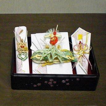 結納セット 結納BOXセット螺鈿(らでん)小桜