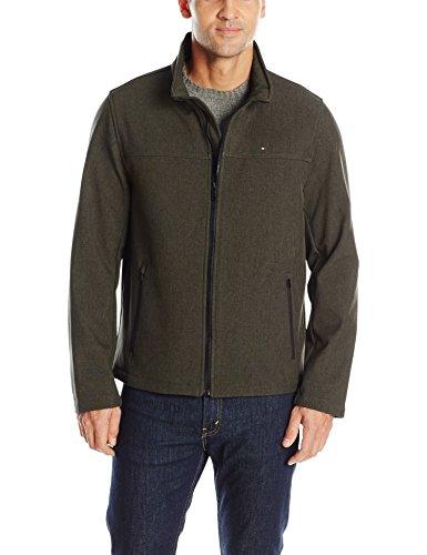 (Tommy Hilfiger Men's Classic Soft Shell Jacket, Heather Olive, L )