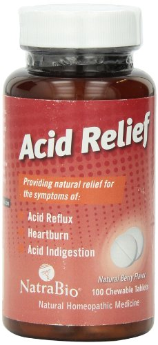 Natrabio Acid Relief Tablets, Berry, Chewable, 100 Count Glandular 100 Tablets