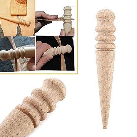 EisEyen Holz Leder Rand Slicker Kit DIY Rundholzkante Slicker Burnisher Kantenpolierer