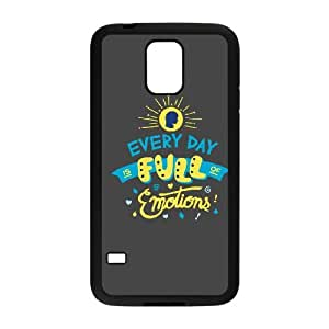 Samsung Galaxy S5 Cell Phone Case Black_EVERY DAY IS FULL OF EMOTIONS Lwluv