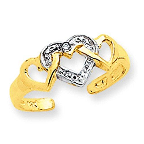 Rhodium Diamond Heart Toe Ring (14K) by More Toe Rings