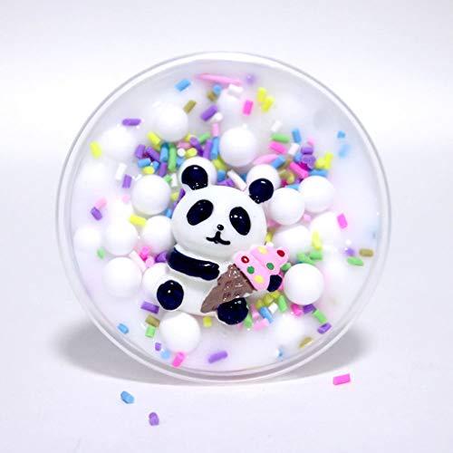 Matoen Panda Ice Cream Fruit Cake Mud Poke Mud Crystal Mud Beads Slime Clay Sludge Toy Kids Adult Stress Relief Plasticin Toys Gift 60ML (A)