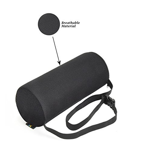 Lumbar Support Roll Pillow With (Firm Density) Cool Ventilation Technology, and Clip to Strap to the Chair, Sciatica and Pain Relief
