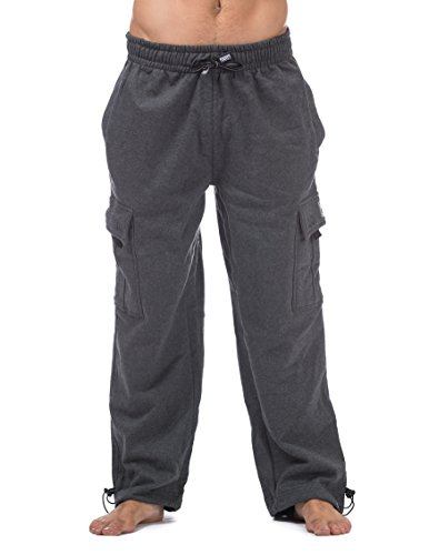 Pro Club Men's Heavyweight Fleece Cargo Pants, 3X-Large, Charcoal
